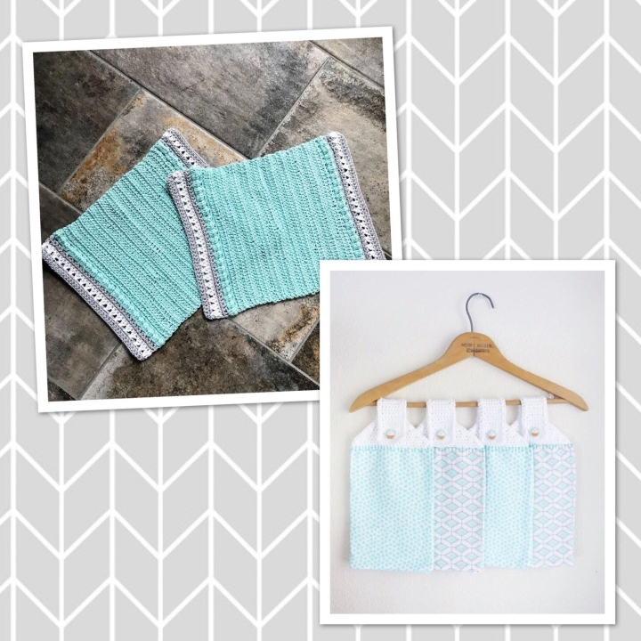 Crochet tea towels and place mats