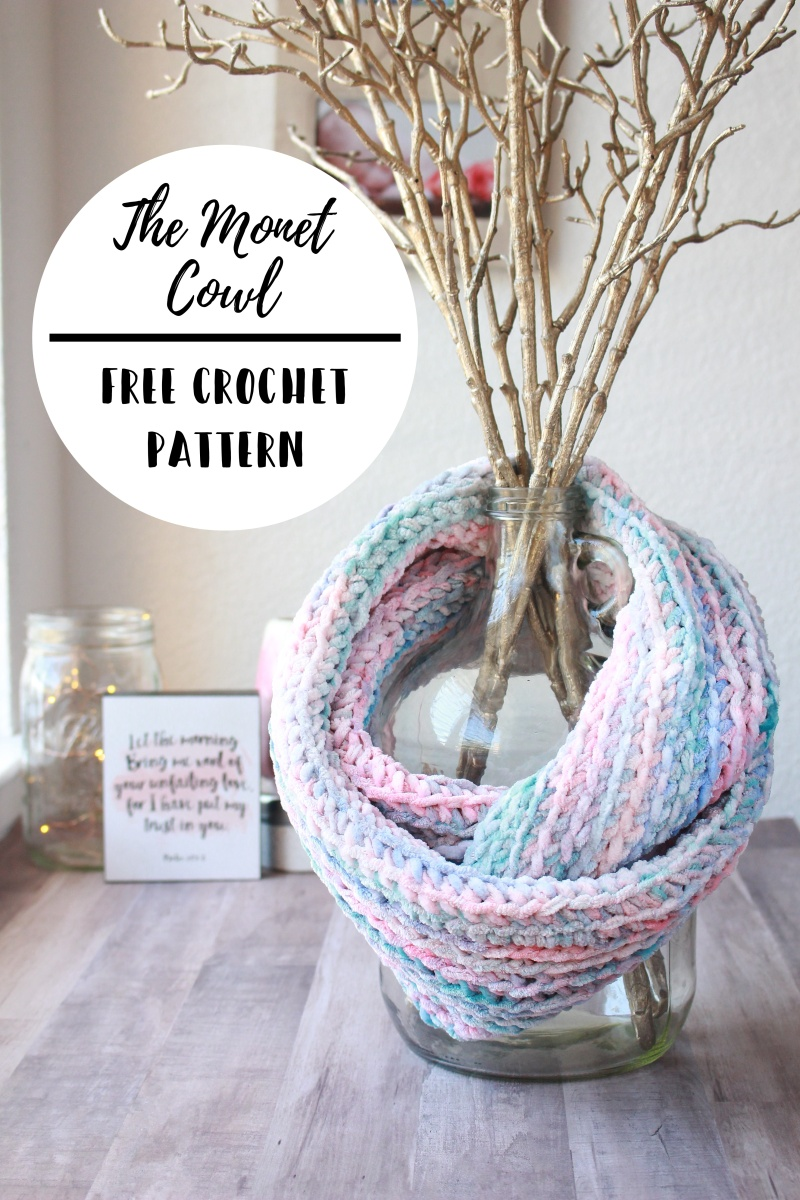The Monet Velvet Cowl Free Crochet Pattern Christ And Crochet
