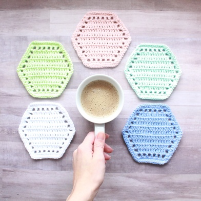 Coasters and coffee cup